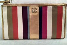 COACH LEGACY JULIA Limted Edition Multi*color Stripe Sateen Large Wristlet
