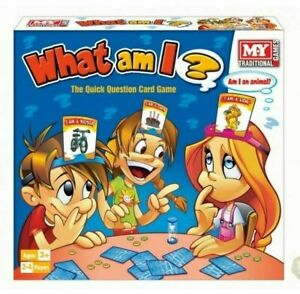 What Am I Game Traditional Family Party Fun Guessing Game 50 Cards Chips Timer