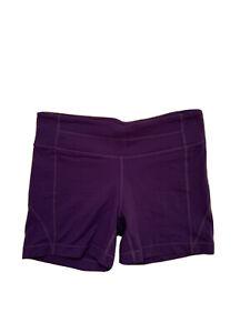 Athleta Women's Athletic Shorts/Spandex, Fitted Compression, Purple, Size Medium