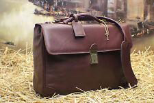 HARTMANN Vintage Soft Leather Professor Scholar Laptop Briefcase Bag Mens