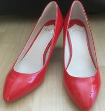 FAITH CINNIE RED PATENT MID HEEL SHOES SIZE 6 BNWB