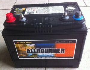 MRV50 Allrounder 80AH,12V, 650CCA DEEP CYCLE/STARTING BATTERY