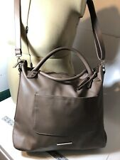 Steve Madden Gray Faux Leather Tote Purse Bag Handbag
