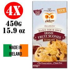4x Odlums Irish Fruit Scones Mix - just add milk - 450g Ireland  Breakfast Bread