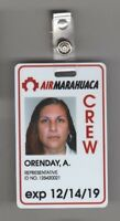 THE LIBRARIANS SCREEN USED EP 306 Airport ID Card Air Marahuaca Crew (5)