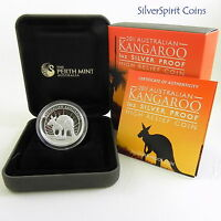 2011 KANGAROO HIGH RELIEF SILVER PROOF 1oz Coin