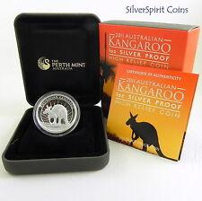 2011 KANGAROO HIGH RELIEF SILVER PROOF 1oz Coin