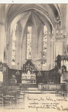 LOMBEZ intérieur de l'église et maître autel photo-éd tapie timbrée 1902