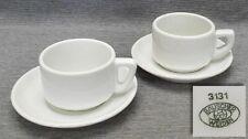2 Tassen Kantinengeschirr 30er Bauscher Weiden Bauhaus Art Deco Loft Porzellan