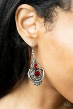 Paparazzi Earrings ~ Unlimited Vacation - Red