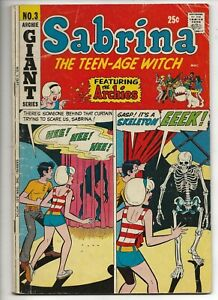 SABRINA THE TEENAGE WITCH #3 Archie, Sept 1971 Giant thick HORROR cover!!!