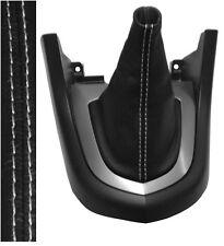 Soufflet de levier vitesse noir 100% CUIR coutures blanches pour PEUGEOT 308 I