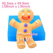 JEB144 49.9mm Christmas Gingerbread Man Silicone Mold Cookie Biscuit Resin Clay