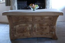 Handmade Fairy Tale Kitchen Island made by Carved Wood Design Bespoke Kitchens.