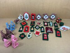 Lot of 37 - Handmade Christmas Holiday Ornaments - Free Shipping
