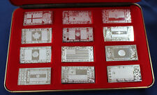 1973 The Silver Mint Silver Producing Nations 12 Ingot Set Silver Art Bars P0028