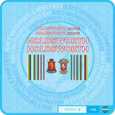 Holdsworth Equipe Bicycle Decals Transfers Stickers - White With Red Key - Set 4