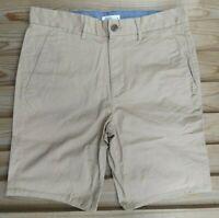 """Burton Men`s Chino Shorts 32"""" Waist Size Medium Dark Beige - RRP £20"""
