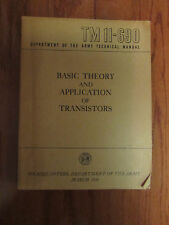TM 11-690 Basic Theory And Application Of Transistors