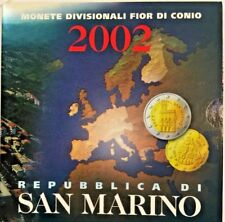 San Marino 2002 Complete Euro Proof Set 8 Coins COA