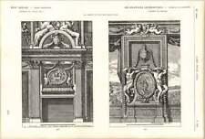 1882 Louis Xiv Interior Decoration For Chimney