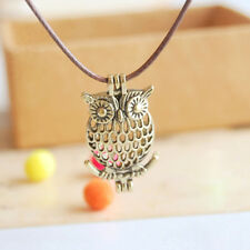 Owl Aromatherapy Perfume Fragrance Oil Diffuser Locket Necklace Pendant Gift