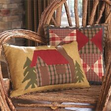 CABIN PILLOW : RUSTIC LODGE IN THE WOODS ACCENT TOSS CUSHION