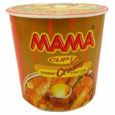 Mama Instant Noodles Creamy Tom Yum Shrimp Flavor Thai Spicy 42 G X 9 Cups