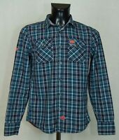 MENS SUPERDRY SHIRT LONG SLEEVE COTTON SIZE M EXCL