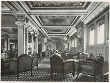 D1526 Conte Grande - Galleria della sala da ballo - Stampa antica - 1928 print