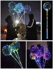 LED accendere BOBO Palloncino Trasparente Matrimonio Festa Di Compleanno Decorazione Lampada & Maniglia