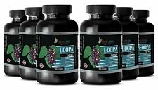 L-Dopa 99% Extract Powder 350mg Mucuna Testosterone Booster 360 Pills 6 Bottles