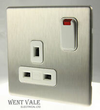 MK Aspect - K24657 BSS W - 13a 1 Gang Switched Socket With Neon New