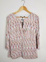 Liz Jordon Designer Rebecca Peach Gloss Layered Top Women's Size XL BRAND NEW