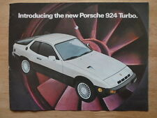 PORSCHE 924 Turbo orig 1979 USA Mkt sales brochure catalog