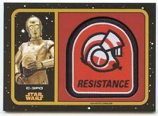 2017 Topps Star Wars Journey  Last Jedi GOLD Emblem Patch MP-3p C-3PO #02/25