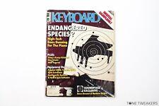 KEYBOARD MAGAZINE Dec 85 Sting Eurythmics Dire Straits Prophet 2000 Yamaha dx21