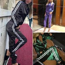 Women 2Pcs Tracksuit Long Sleeve Jacket Tops & Pants Sets Casual Sport Gym Suits