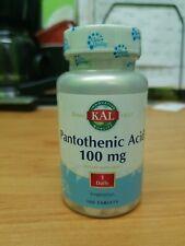 KAL Pantothenic Acid 100mg (100 Tablets)