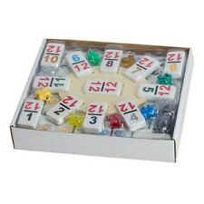 Dominoes Double 12 Professional Size  Color Number White Tile Set of 91 Pcs New