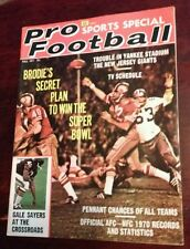 SB LI 1971 PRO FOOTBALL mag 49ers Patriots Falcons Steelers SWEET