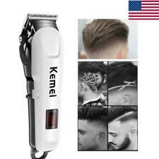 Electric Low Noise Hair Cutting Machine Clippers Trimmer Kit Barber Salon Men EU