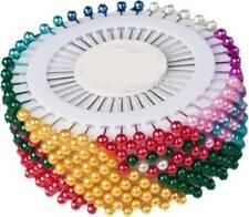 80 x PEARLISED HEAD PINS SET / PIN DRESS MAKERS SEWING CRAFT Hair Pins - UK