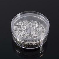 1900pcs 5 Models Non Insulated Electrical Crimp Cord Wire End Terminal