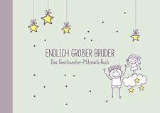 Geschenk für großen Bruder + kleine Schwester zur Geburt: Geschwister-Buch NEU