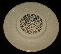 Lenox Cake Plate or Platter, Embossed Wide Rim with Gold Pattern Center, 11 1/2""