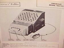 1946 1947 1948 CHEVROLET CAR STYLEMASTER FLEETMASTER AM RADIO SERVICE MANUAL 1