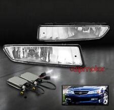 02-03 ACURA TL BUMPER DRIVING FOG LIGHTS LAMP CHROME W/6000K HID KIT LEFT+RIGHT