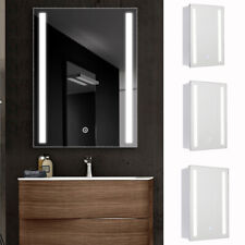 LED Illuminated Bathroom Mirror Cabinet with Touch Switch Shaver Socket Demister