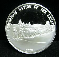"""1975 SOVEREIGN NATIONS OF THE """"KENAITZE"""" - 1 OUNCE PROOF .999 SILVER ROUND"""